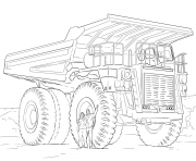 Coloriage dump camion machine