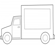 Coloriage simple camion