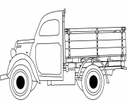 Coloriage classic camion