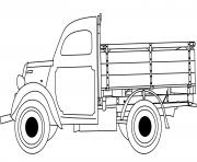 classic camion dessin à colorier