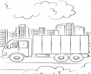 Coloriage delivery camion