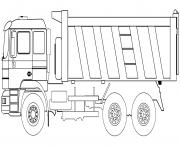 dump camion dessin à colorier