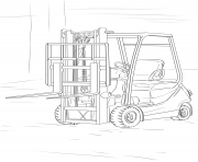Coloriage forklift camion