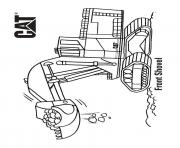 Coloriage front shovel camion cat