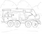 crane camion dessin à colorier