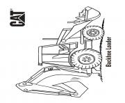 Coloriage backhoe loader camion