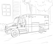 Coloriage emergency car