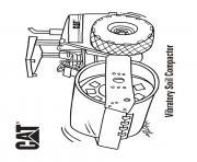 vibratory soil compactor camion dessin à colorier