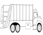 garbage camion dessin à colorier