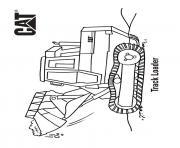 track loader camion caterpillar dessin à colorier