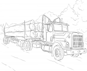 log camion dessin à colorier