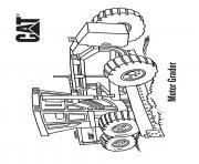 motor grader camion cat dessin à colorier
