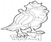 Coloriage Corviknight Pokemon