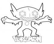 Coloriage pokemon xy crabominable dessin