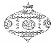 boule de noel pour un magnifique sapin dessin à colorier