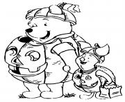 winnie the pooh halloween dessin à colorier