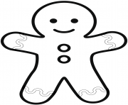 Coloriage simple gingerbread man