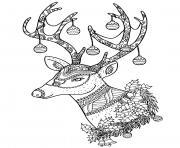 renne noel pour adulte difficile dessin à colorier