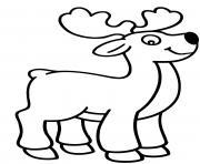 rudolphe renne au nez rouge 1939 dessin à colorier