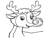 Rudolphe le renne du Pere Noel dessin à colorier
