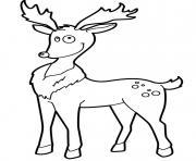 renne de noel nez rouge rigolo pret pour aventure dessin à colorier