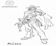 Coloriage overwatch McCree