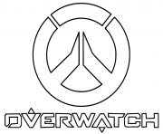 Coloriage overwatch Logo