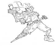 overwatch Junkrat dessin à colorier