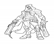 Coloriage overwatch Reaper
