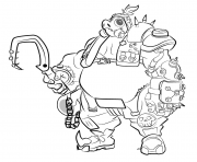 Coloriage overwatch Roadhog