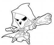 Coloriage Overwatch Reaper Cute