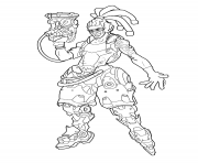 Coloriage overwatch Lucio