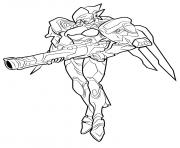 overwatch sombra dessin à colorier