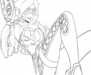 Coloriage overwatch tracer pulse pistols