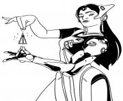 overwatch Symmertra dessin à colorier