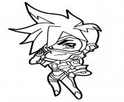 Coloriage Overwatch Tracer Cute Spray