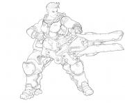 overwatch Zarya dessin à colorier