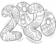 Coloriage Happy New Year Coloring Design For Kids dessin