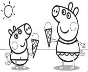 une delicieuse creme glacee dessin à colorier