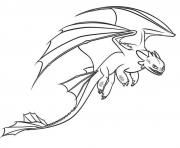 Coloriage Toothless fastest Dragon