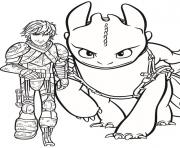 Coloriage pin hiccup and toothless
