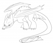 Coloriage toothles retractable teeth dragon