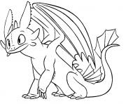 Coloriage Toothless Night Fury Dragon