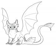 Dragons toothless cute dessin à colorier