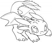Coloriage night fury baby toothless dragon
