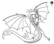 Coloriage death song dragon