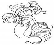 luby la sirene dessin à colorier