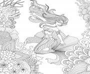 Artherapie Sirene pour Adulte dessin à colorier