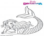 Coloriage Barbie Sirene Arc en Ciel