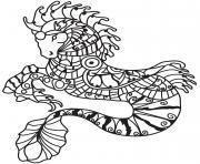 cheval en mode sirene dessin à colorier